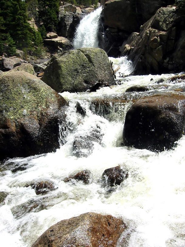 a waterfall in the wilderness