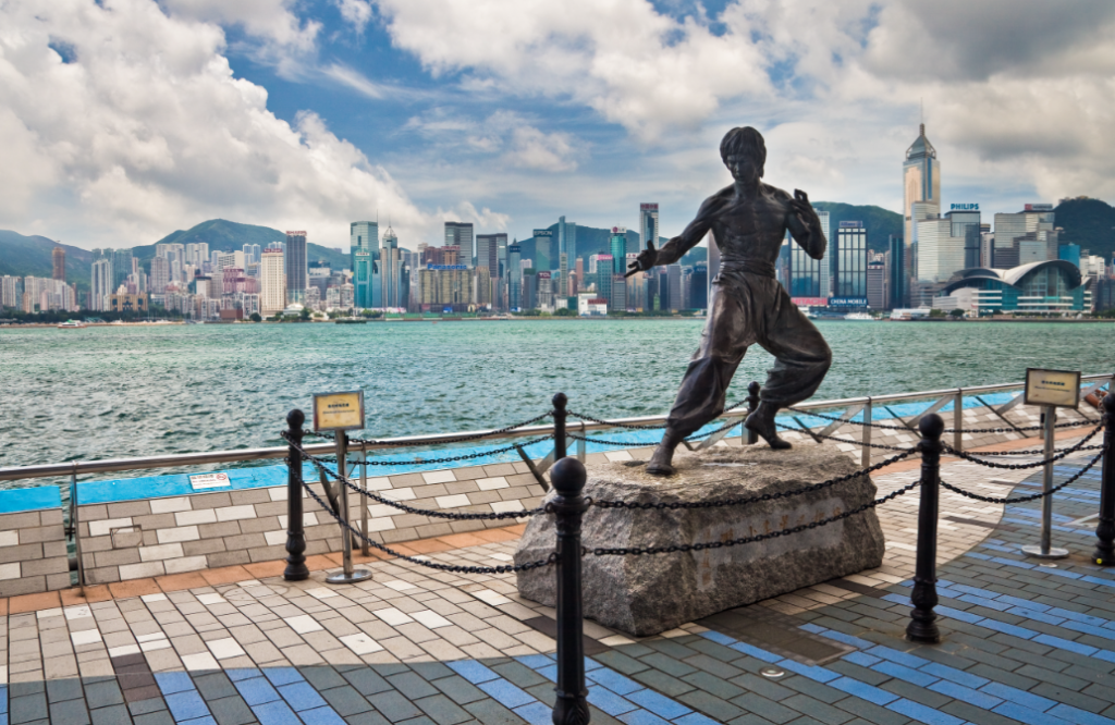 A statue of Bruce Lee