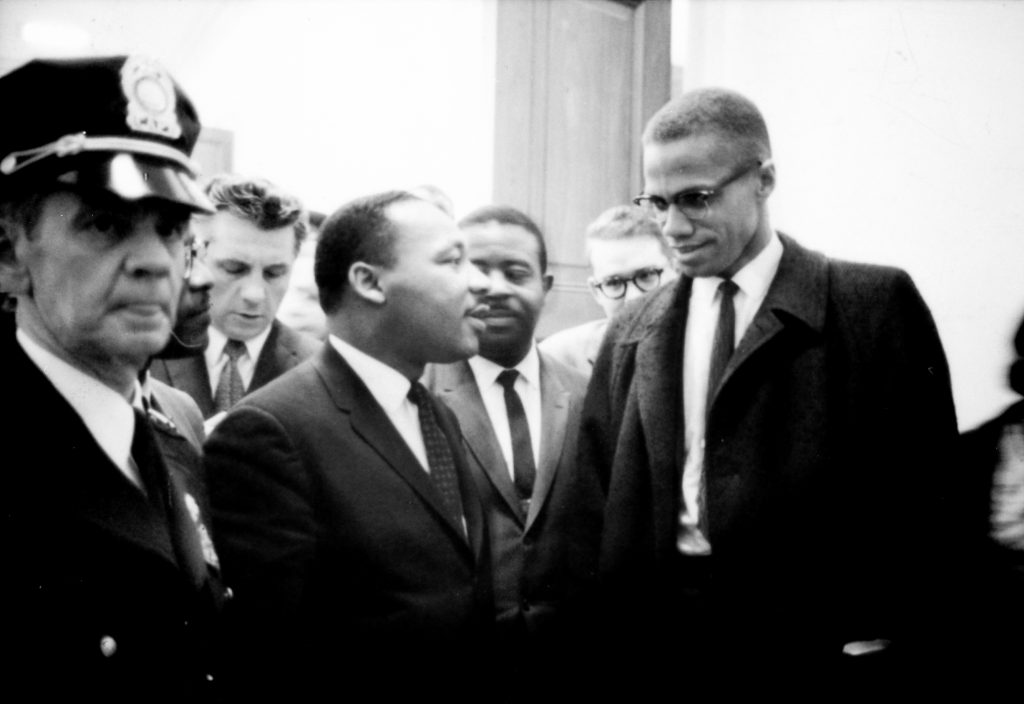 Martin Luther King, Jr. with Malcom X
