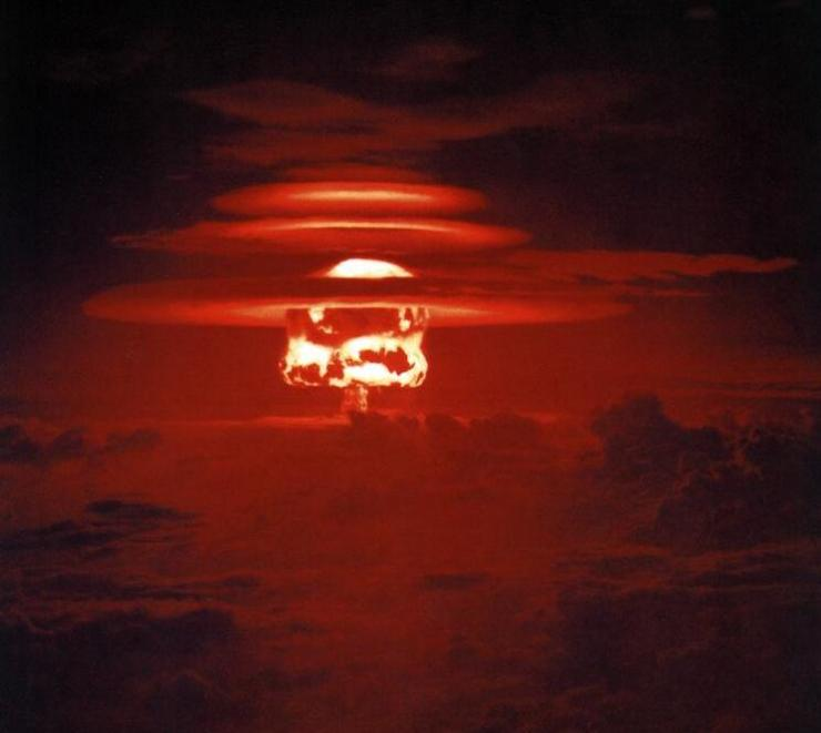 The detonation of a Nuclear bomb