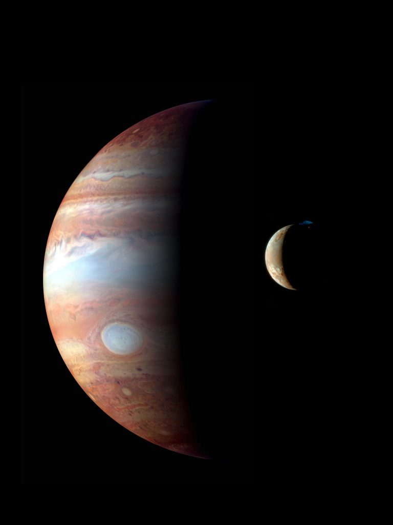 Jupiter with Io in the foreground
