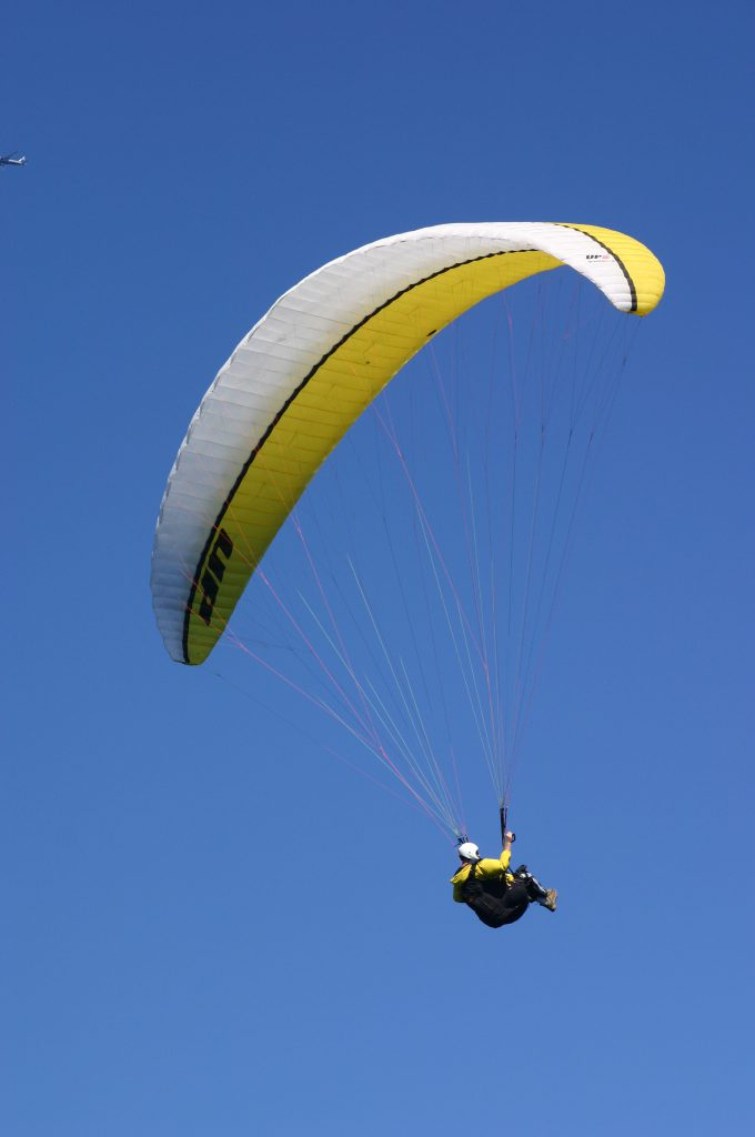a parasailer in the sky