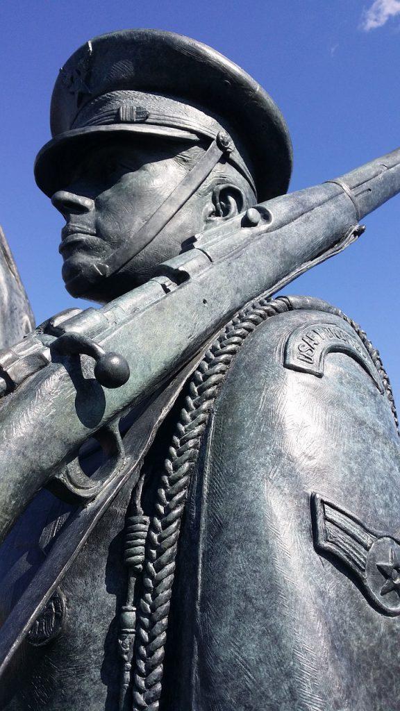 a statue at an Air Force Memorial